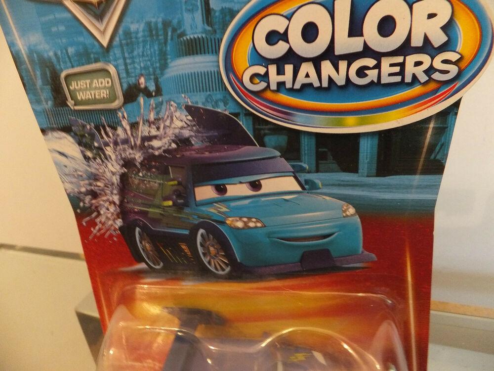 Disney Pixar Cars Color/ colour Changers DJ Purple to Blue !