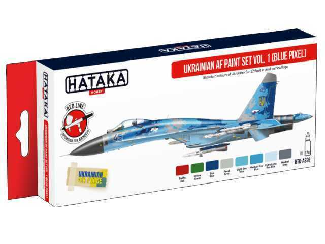 Hataka 8 x 17ml AS96 Acrylic Paint Set - Ukrainian AF vol. 1