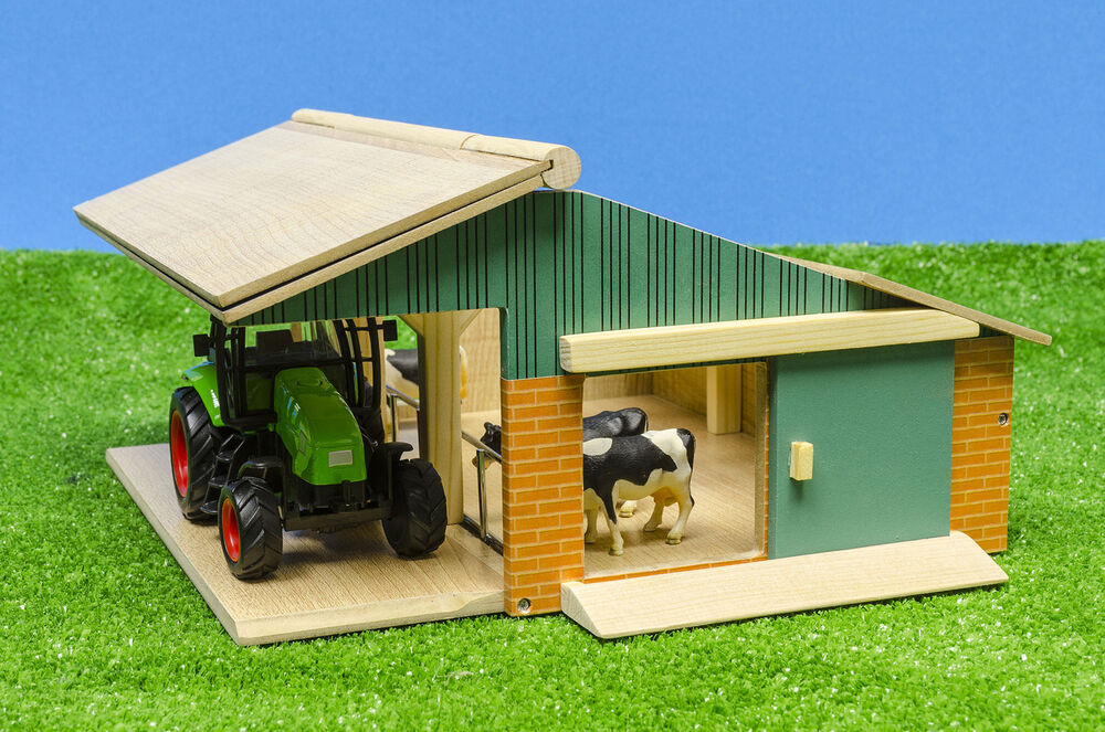 Kids Globe Farming - Farm Play Set Opening Cattle Barn