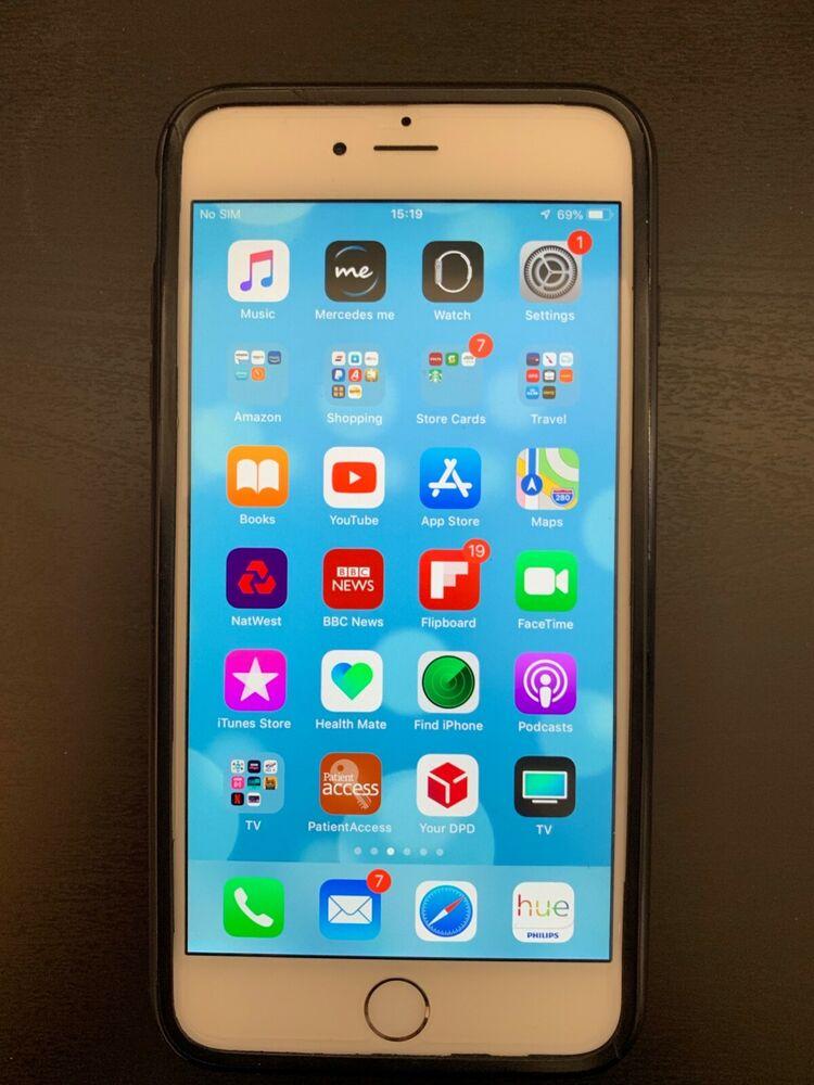 Apple iPhone 6 Plus - 128GB - Silver (Unlocked) A (CDMA