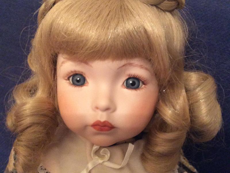 Vintage Collectable handmade porcelain doll 48cms tall