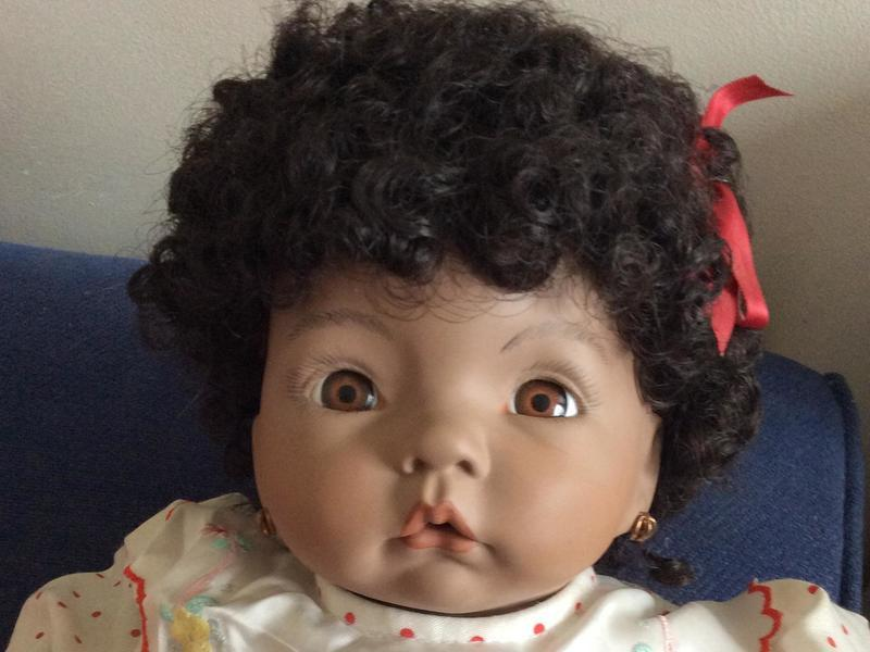 Vintage Collectable handmade porcelain doll which stands