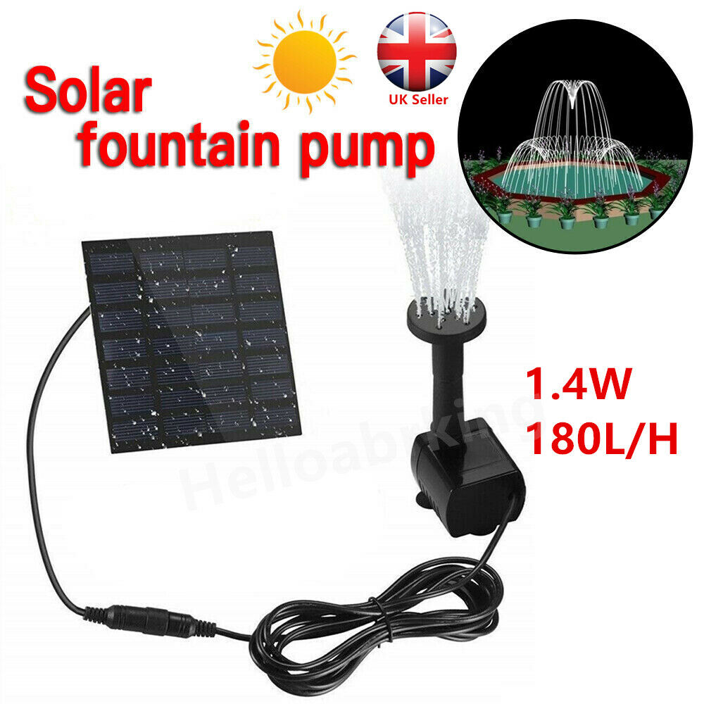 Solar Panel Powered Water Pump Garden Pool Pond Fish