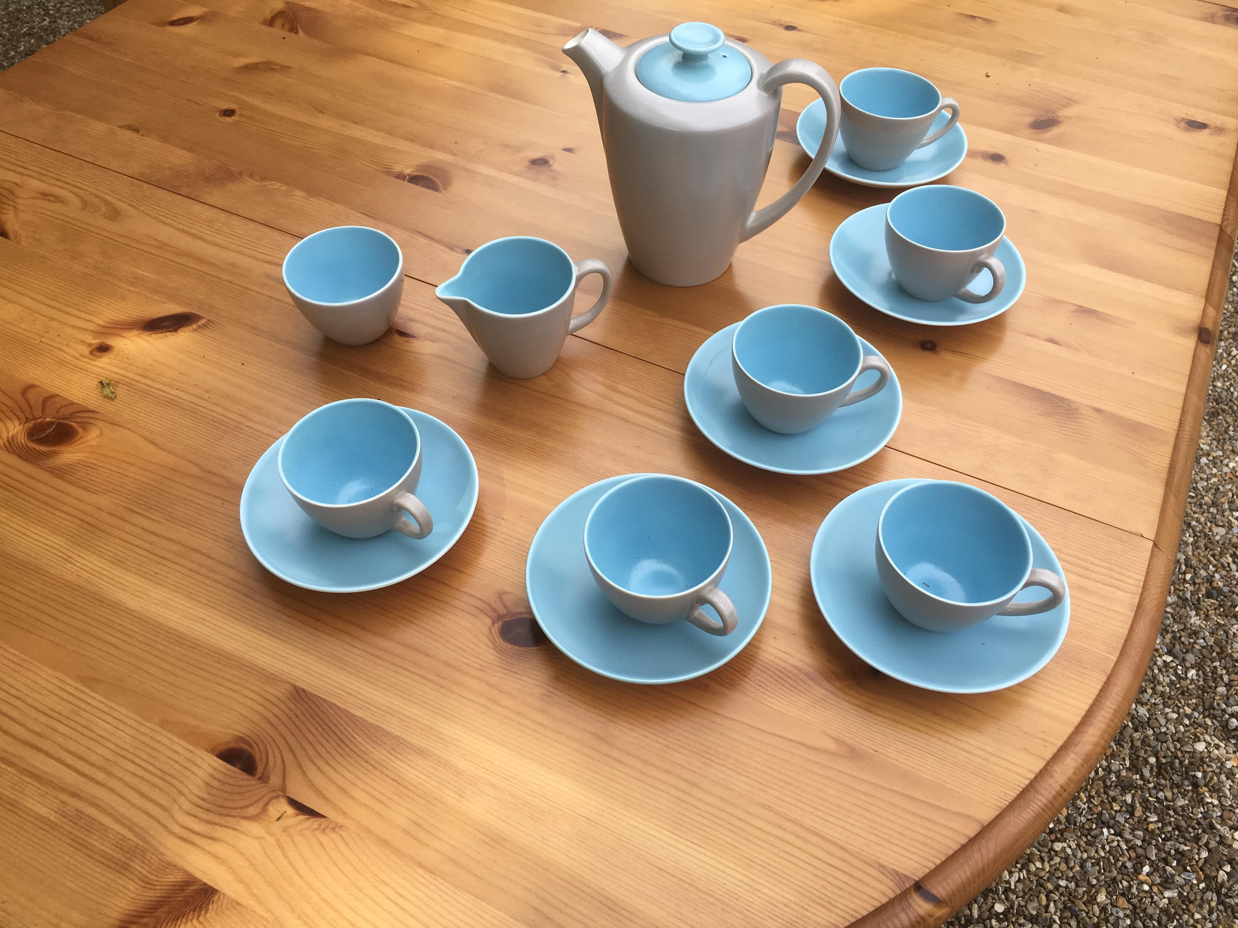 Vintage Poole Pottery Coffee Set