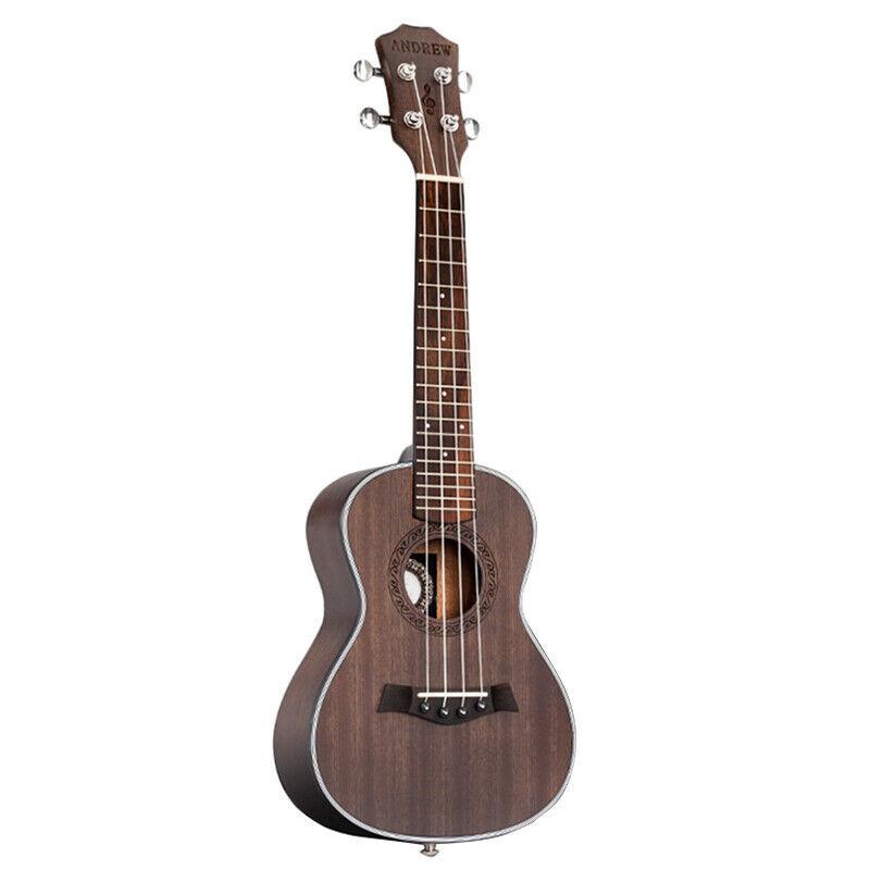 1X(ANDREW Ukulele Concert Ukulele 23 Inch 4 Strings Guitar