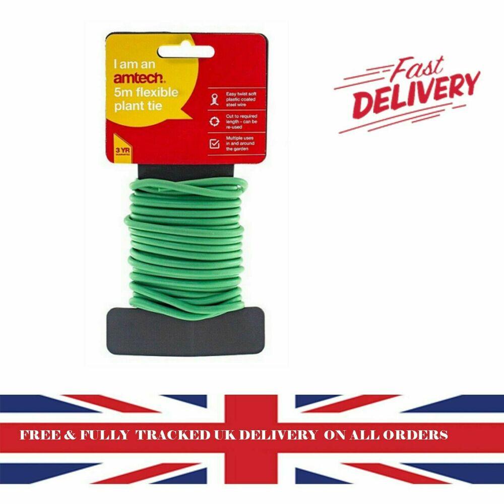 5M Metre Garden Soft Twist Plant Twine Tie Green Flexible