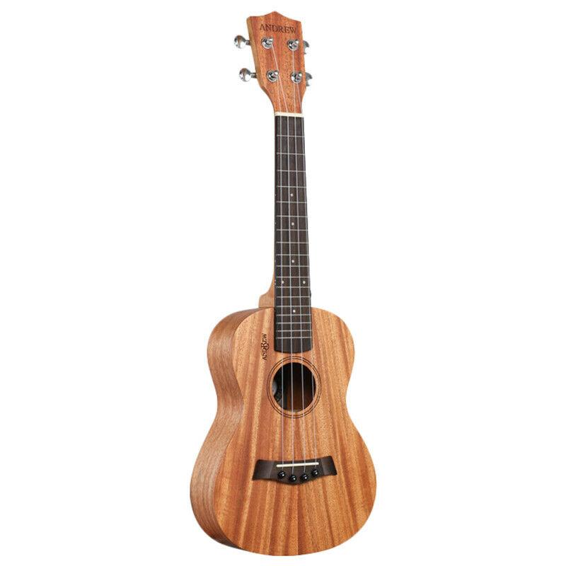 Andrew Ukulele Concert Ukulele 23 Inch 4 Strings Head Guitar