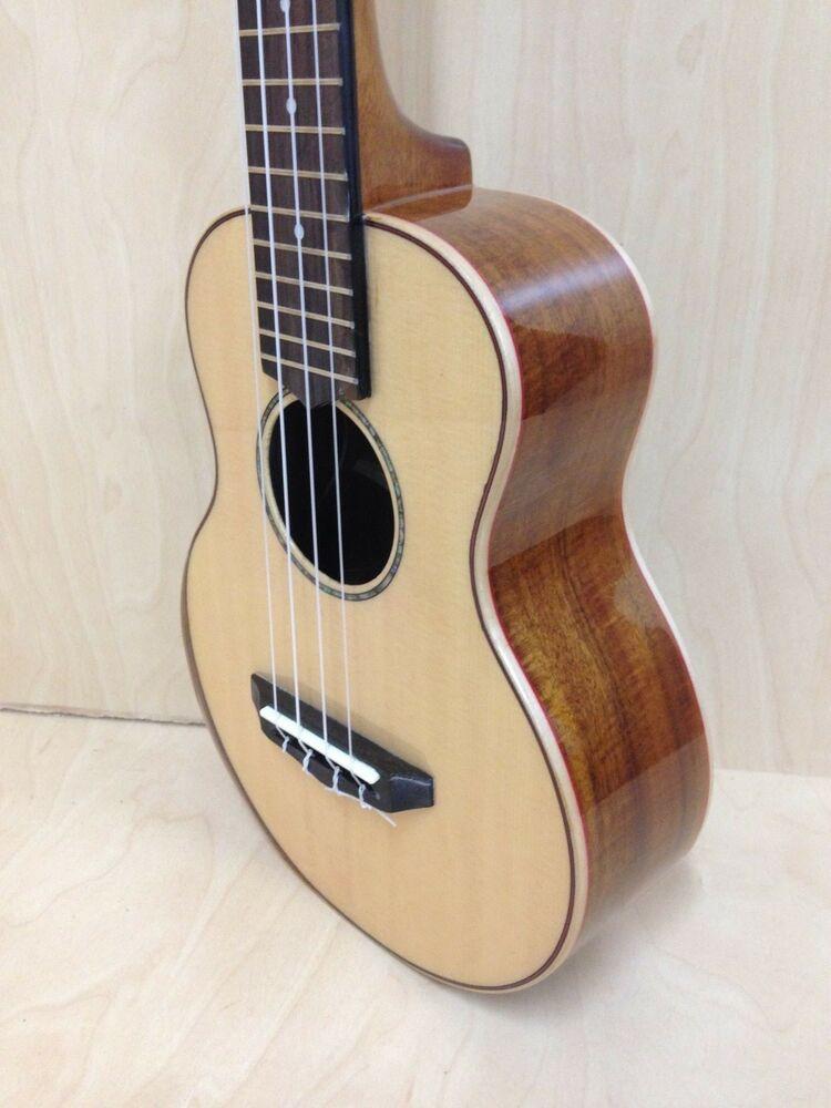 Caraya 23S Concert Ukulele, Solid Spruce Top,Custom Beveled