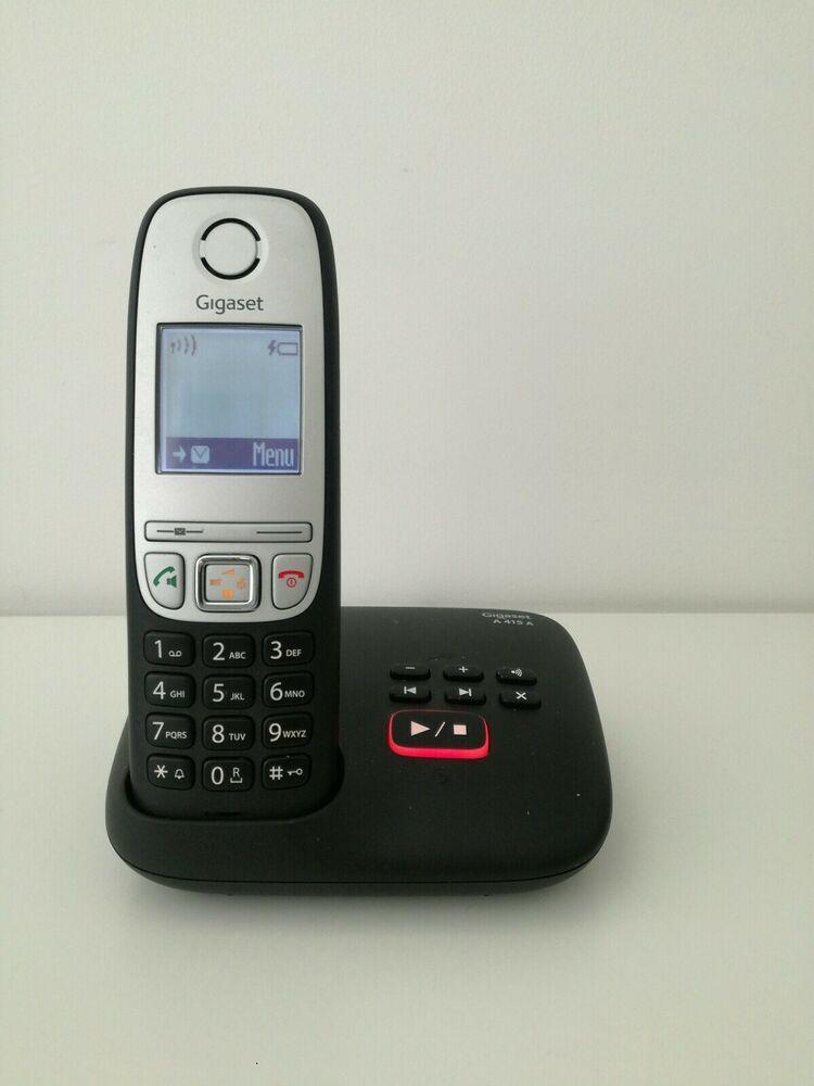 Gigaset A415 A Solo Black Digital Cordless Phone & Answer