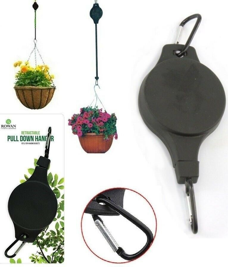 Retractable Pulley Hanging Basket Pull Down Hanger Garden