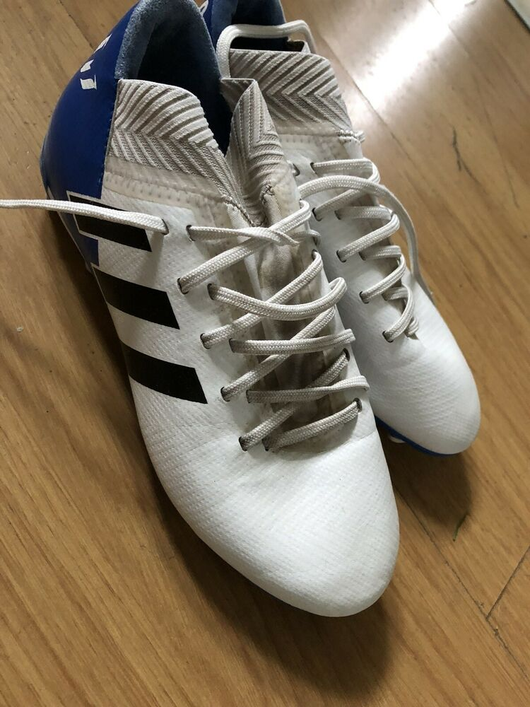 Boys Size 2 Messi Adidas Football Boots Blue And White