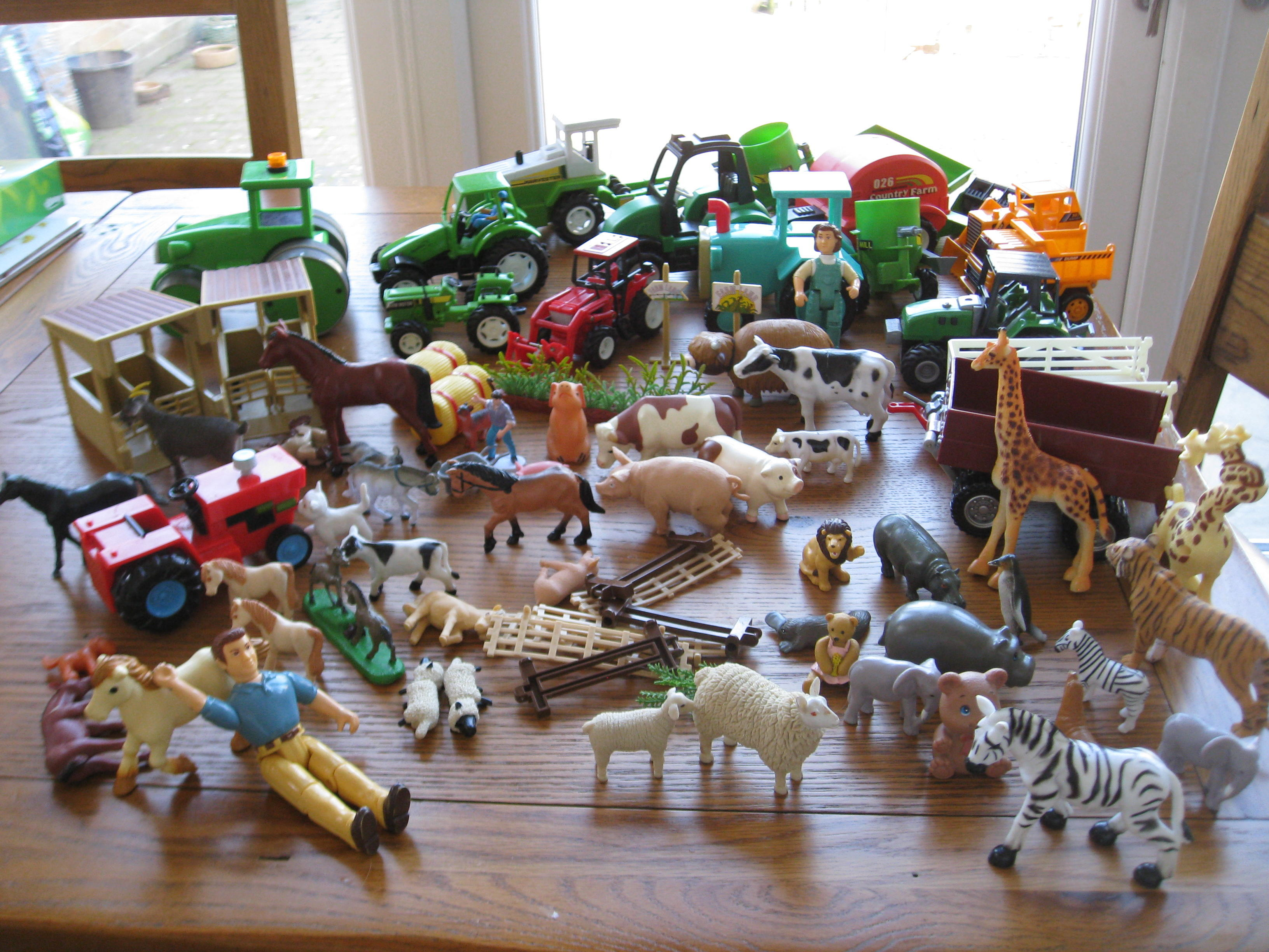 Farm Set and Animals