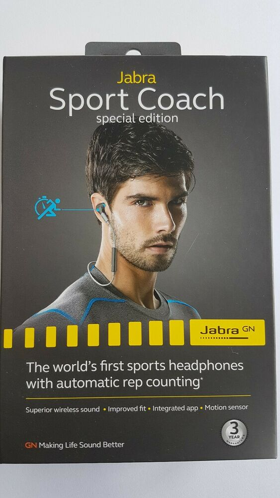 Jabra Sport Coach Blue Grey -New & Sealed- Special Edition