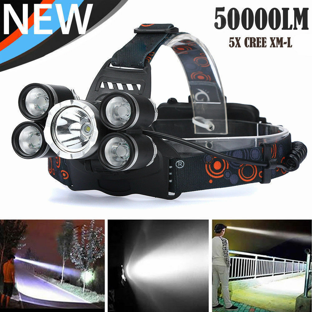 LM 5-Head CREE XM-L T6 LED  Headlamp Headlight