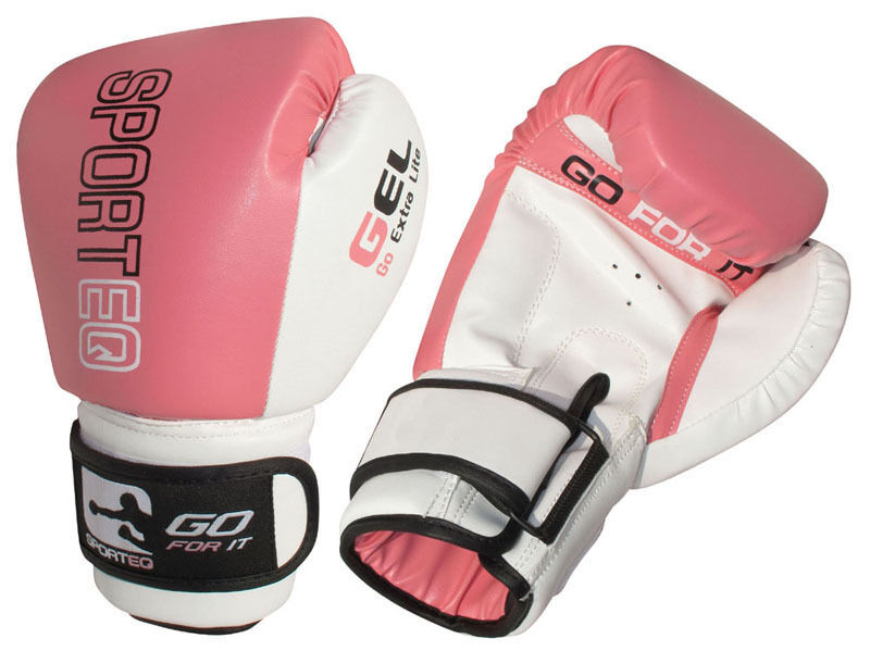 Sporteq® Ladies Pink Boxing Gloves Punch Bag Womens Gym