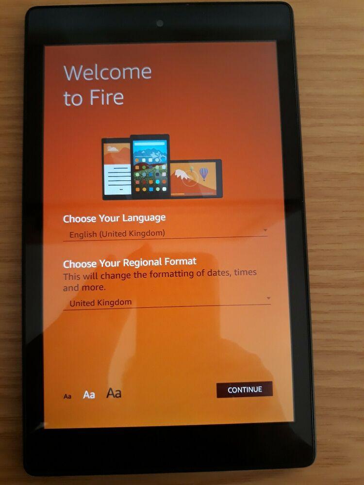 Amazon Kindle Fire HD 8 16GB, Wi-Fi, 8in - Black with Alexa.