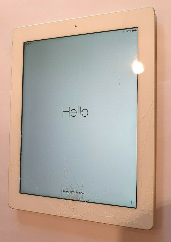 Apple iPad 4th Gen. 16GB, Wi-Fi, 9.7in - White Cloudissue