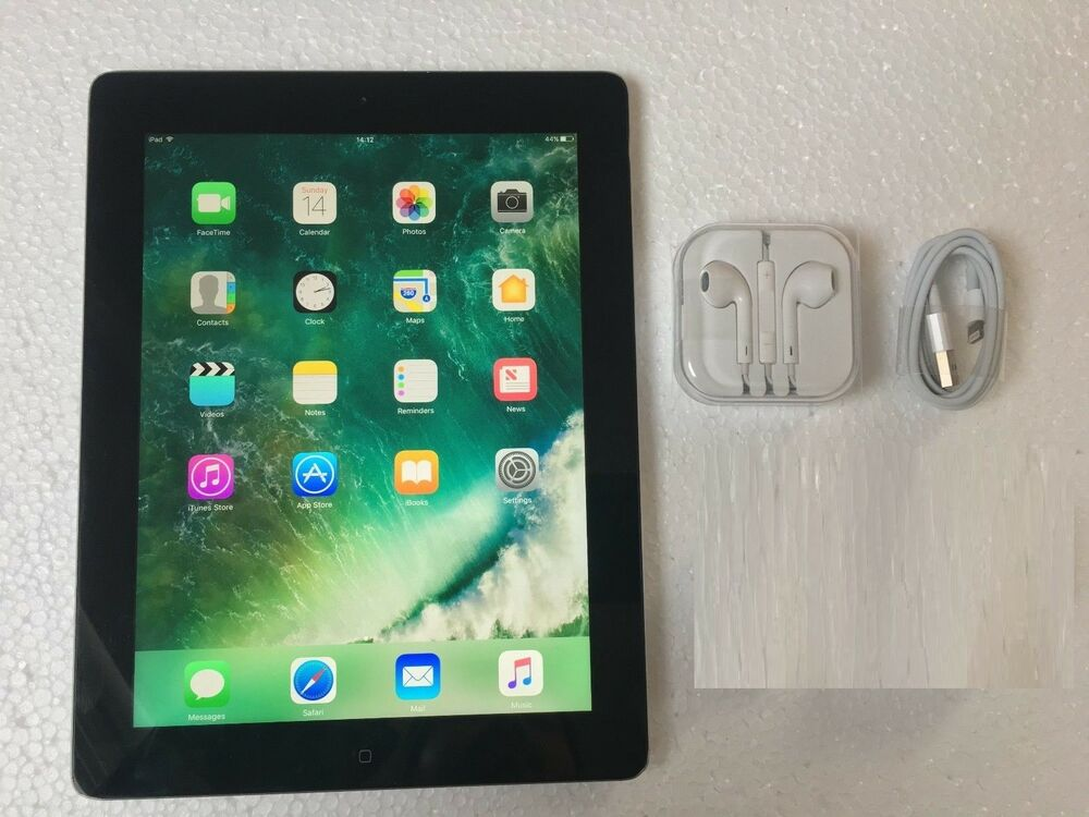 Apple iPad 4th Gen. 64GB, Wi-Fi + Cellular (Unlocked), 9.7in