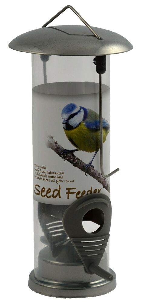 Green Jem BF12-NEW-C Chrome Seed Wild Bird Feeder, Silver,