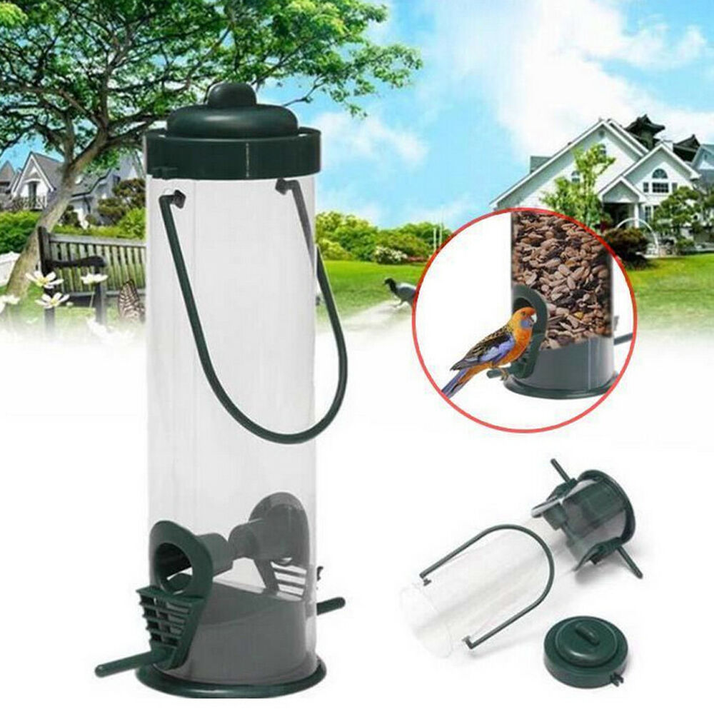 Hanging Wild Bird Feeder Seed Container Hanger Outdoor