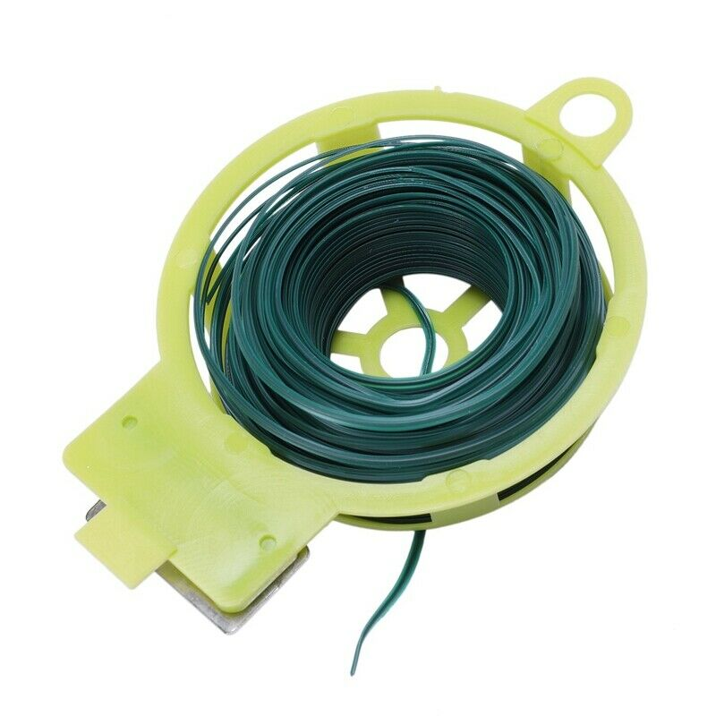 2X(Flexible 30m Garden Roll Twist Wire W/ Dispenser & Cutter