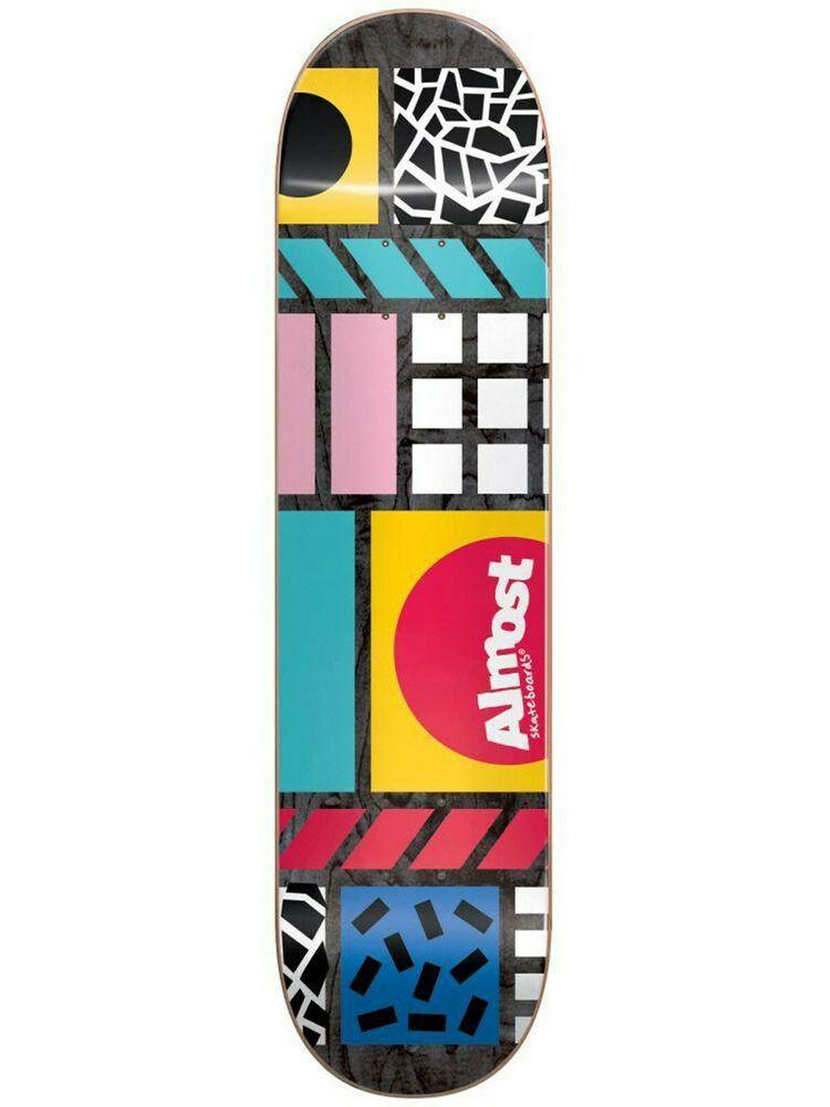 Almost Black New Wave - 8 Inch Skateboard Deck