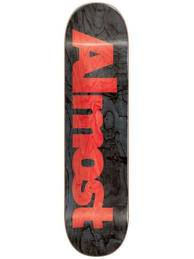 Almost Black Ultimate Logo - 8.5 Inch Skateboard Deck