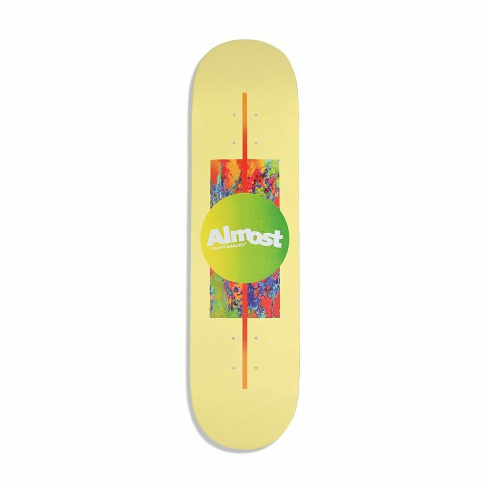 "Almost Gradient HYB "" Skateboard Deck - Yellow"