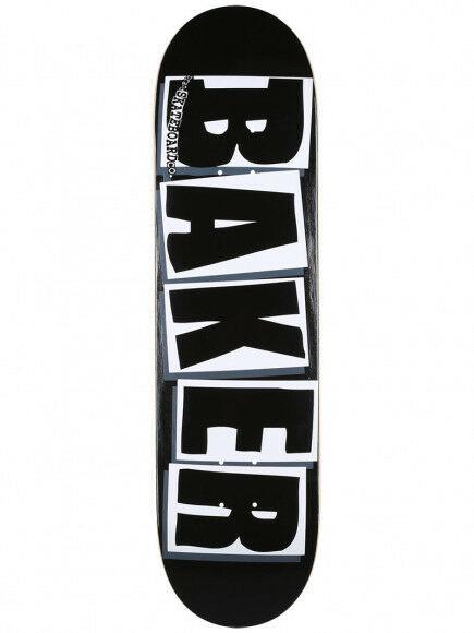 BAKER - BRAND LOGO BLACK WHITE SKATEBOARD DECK - 8.25 INCH -
