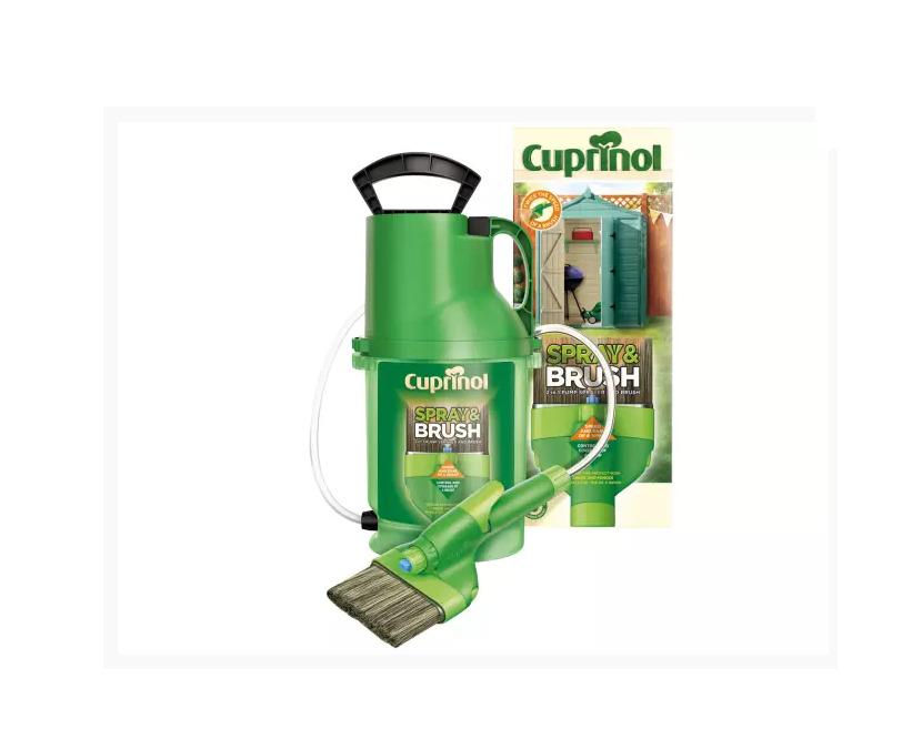CUPRINOL CUPMPSB Spray & Brush 2 In 1 Pump Sprayer - FAST &