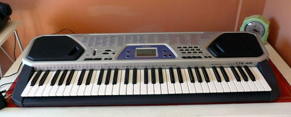 Casio CTK - 481 Electronic Keyboard - 100 songs - fully