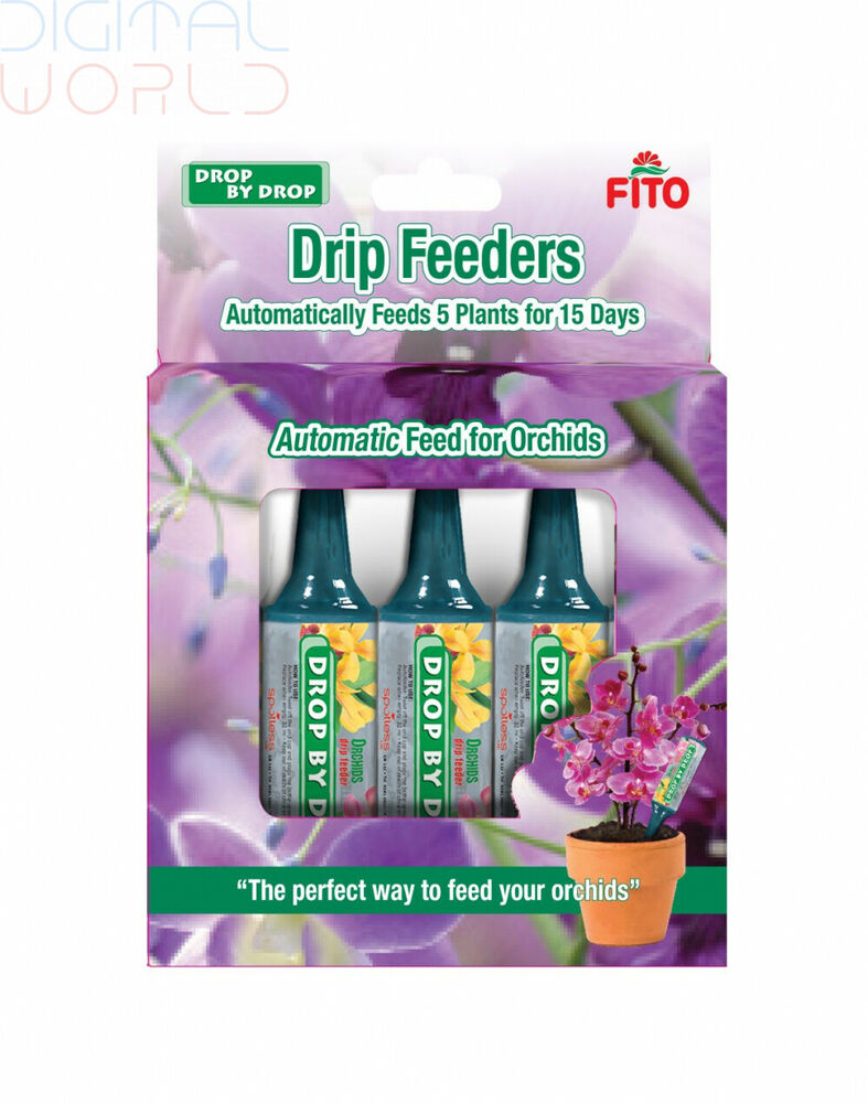 FITO Orchid Drip Feeder, 1 Liter, Blue, 13.5x2.8x18.5 cm,