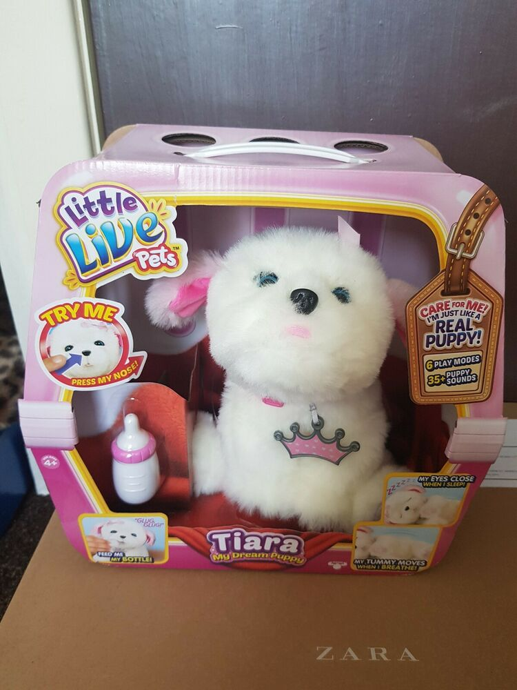 Little Live Pets My Dream Puppy Tiara Interactive Soft Toy