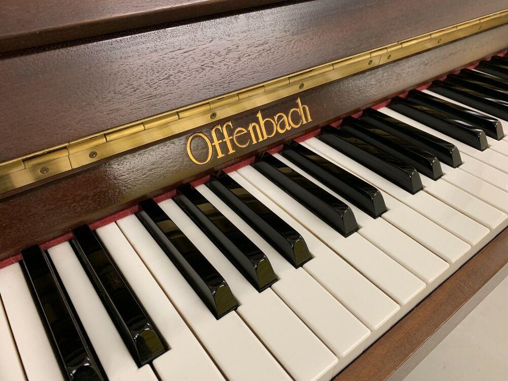 Offenbach 110 Modern Upright Piano In Satin Mahogany Case