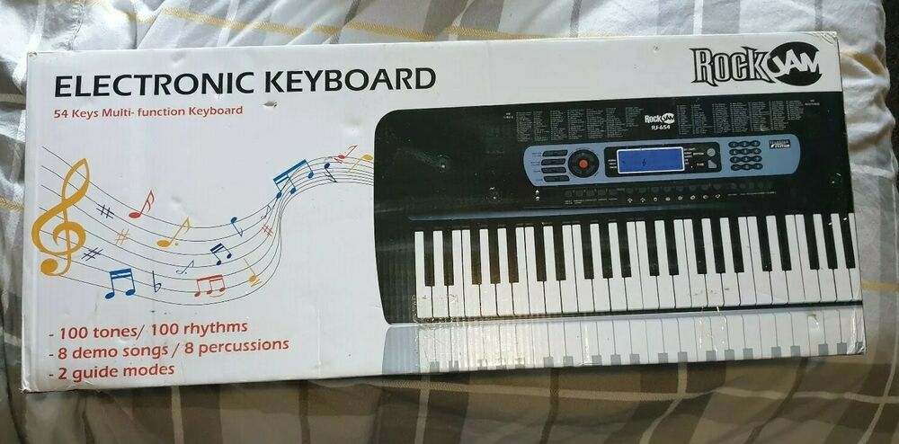 RockJam 54-Key Portable Digital Piano Keyboard with Music