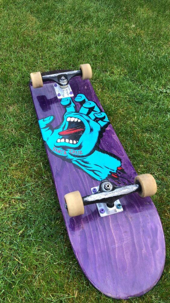"Santa Cruz Screaming Hand 8"" Skateboard Deck With Thunder"
