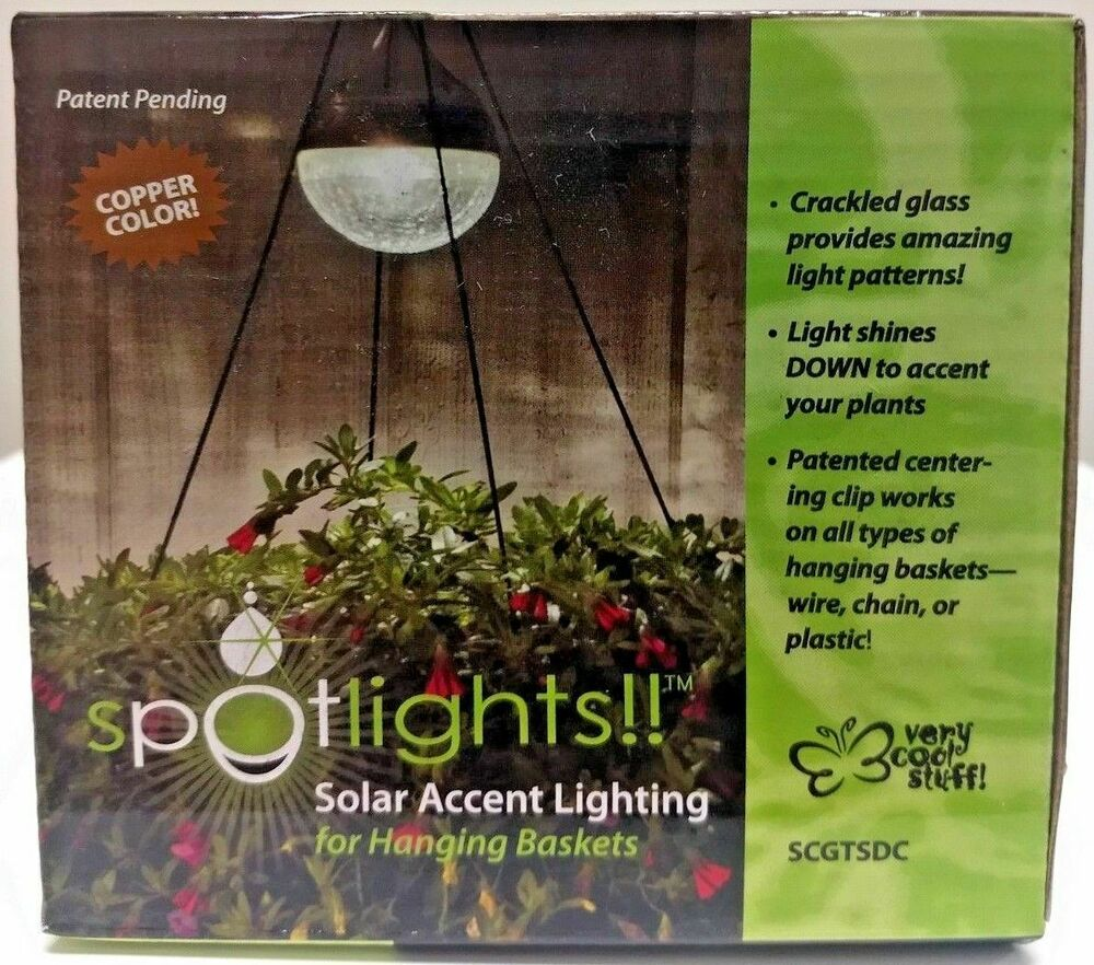 Solar Accent Light for Hanging Baskets Teardrop Shape 3-In.