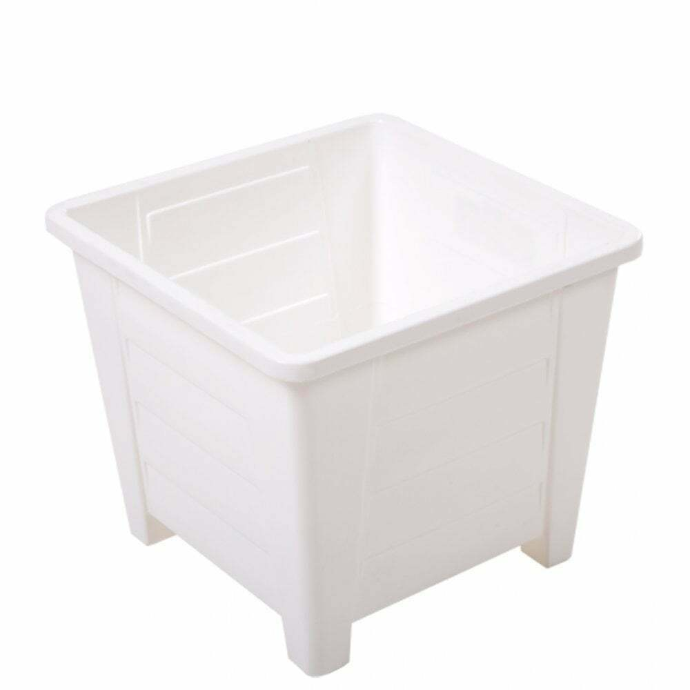 Wham H170 Bianca 28cm Square Planter Herb Flower Plant Pot -