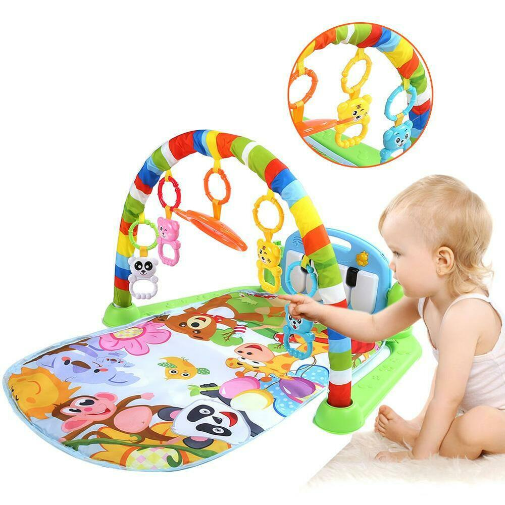 3 in1 Fitness Baby Gym Play Mat Music And Lights Fun Piano