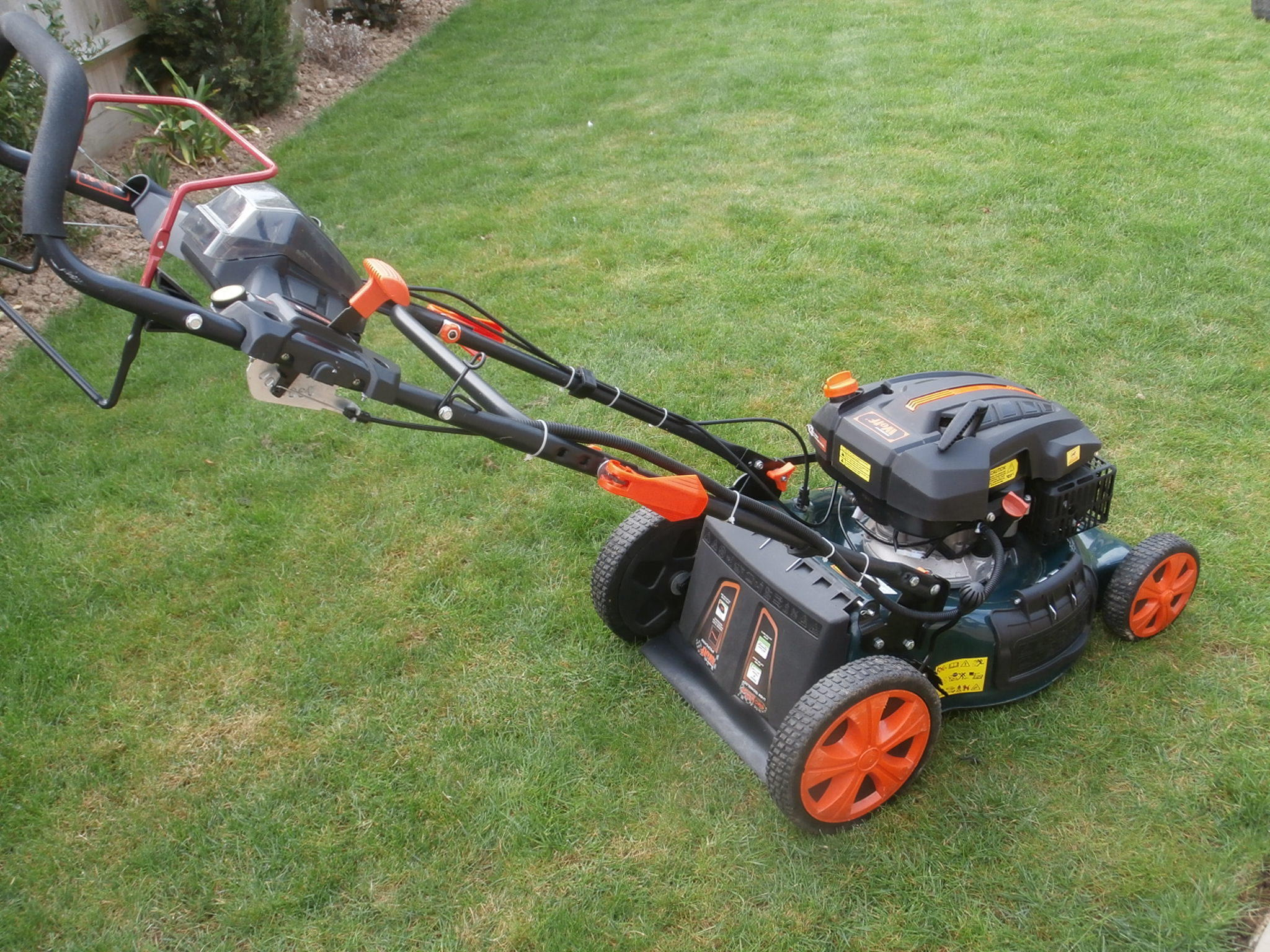 "BMC 18"" Petrol Lawn Mower, Self Propelled with Electric"