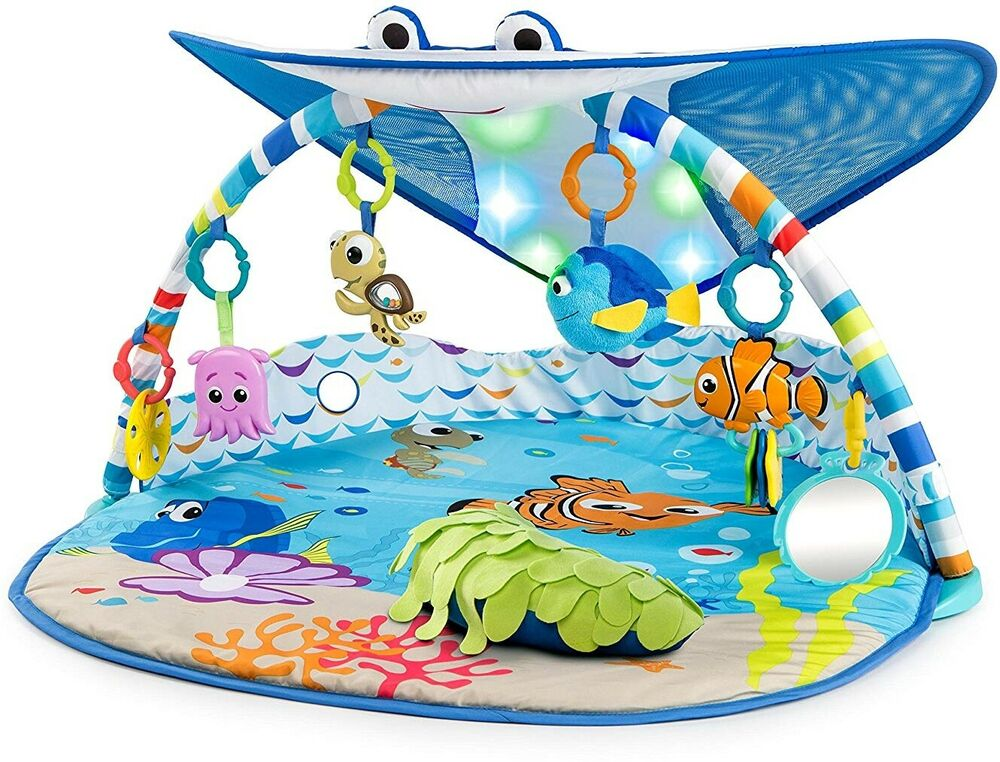 Disney Baby Mr. Ray Ocean Lights Activity Gym and Play Mat -