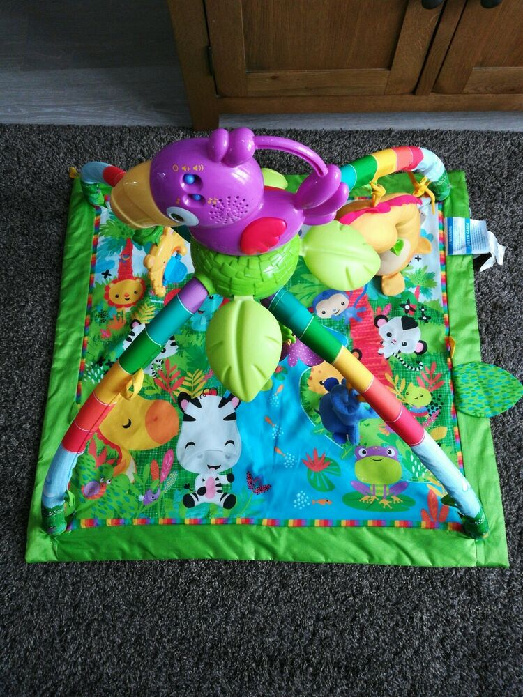 Fisher-Price Rainforest Deluxe Music and Lights Baby Gym