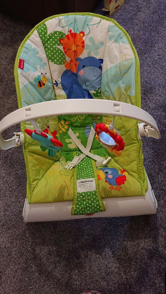 Fisher Price Rainforest Friends Bouncer Vibrating chair