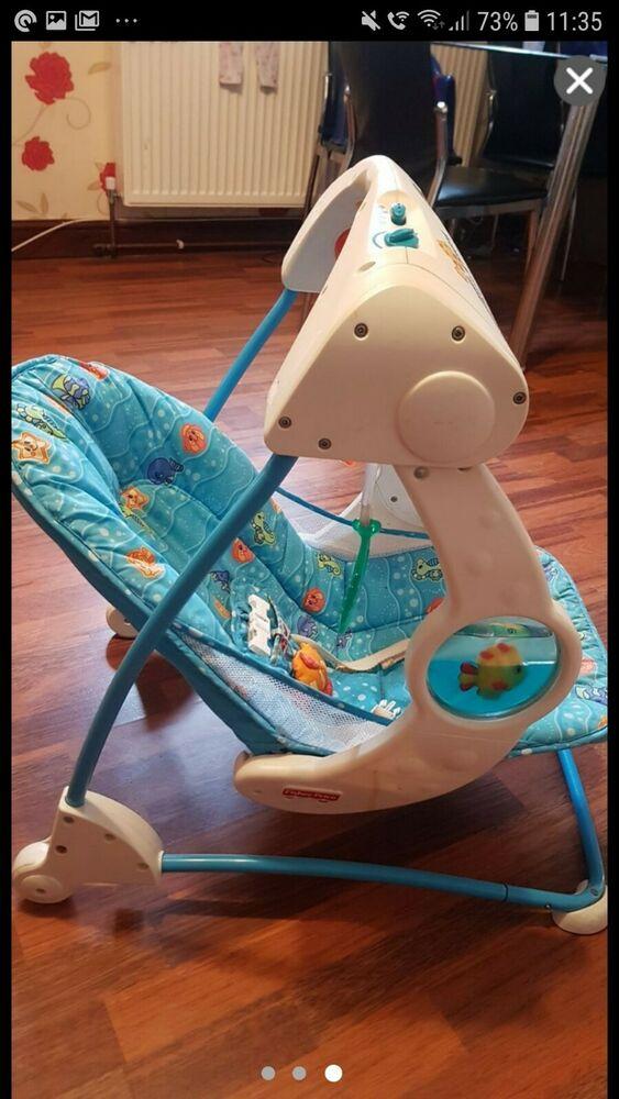 Fisher Price Take Along Musical Baby Swing Folds Flat