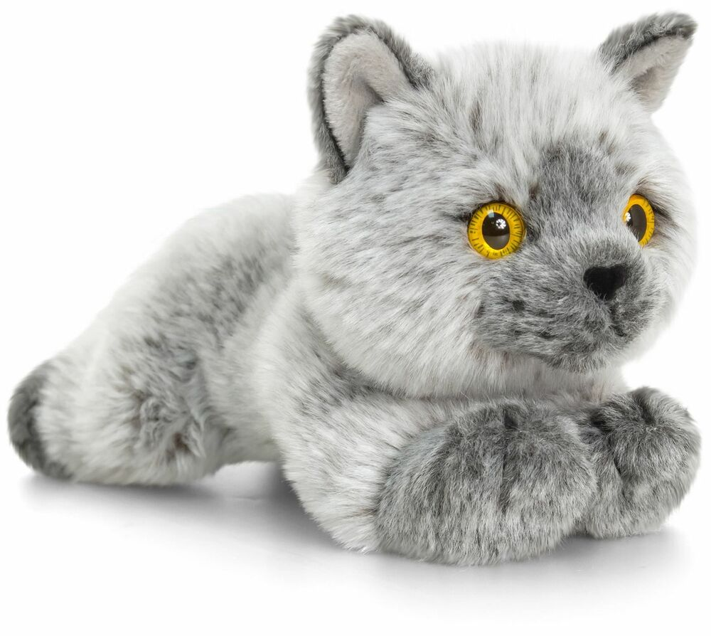 Keel Toys BRITISH SHORTHAIR CAT Branded Soft Toy Stuffed