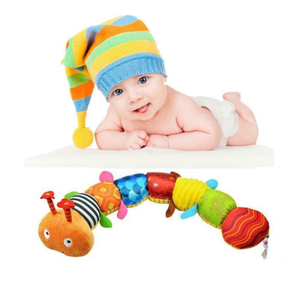 Musical Cute Toy Educational Stuffed Plush Caterpillar Bell