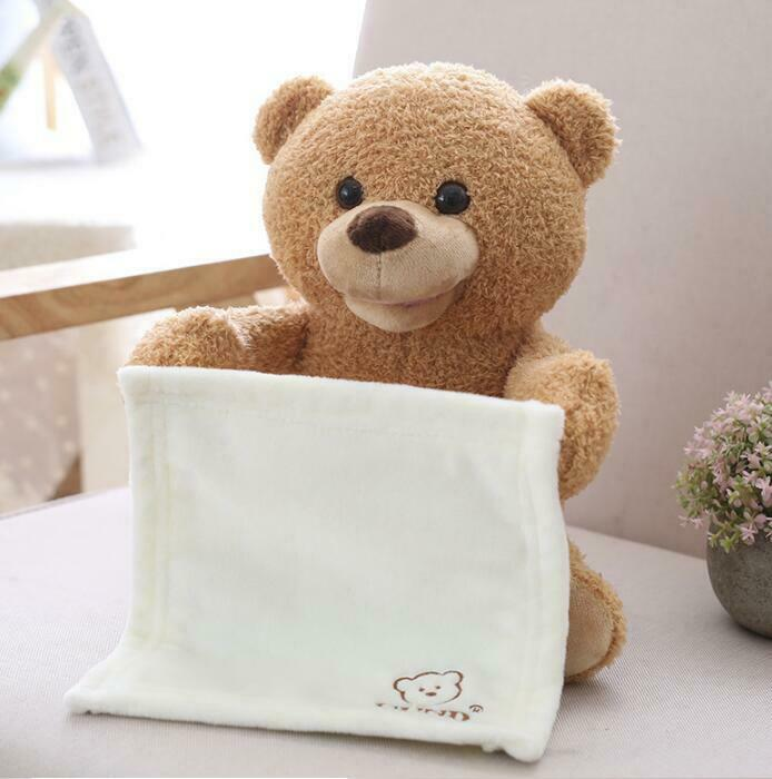 New Peek A Boo Teddy Bear Toddler Kids Children Gift Play