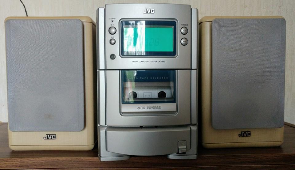JVC stereo tape radio cd player + speakers hi fi SP-UXT550