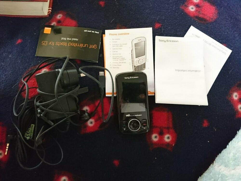 Sony Ericsson Spiro W100i - Stealth Black (Orange) Mobile
