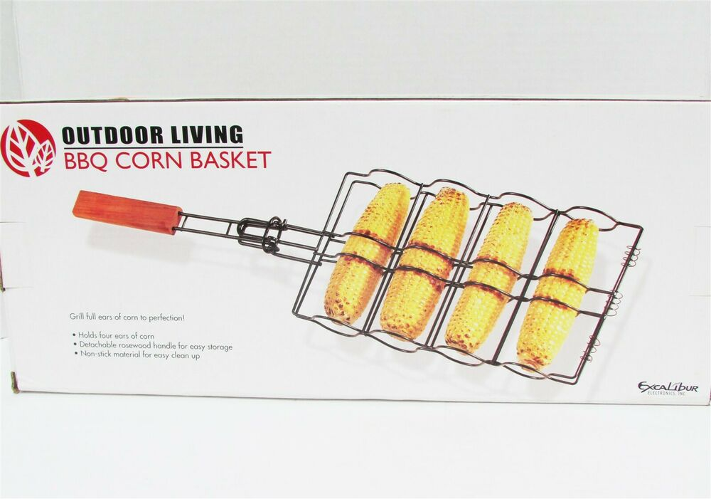 BBQ Corn Basket Grill detachable handle Grilling Barbeque